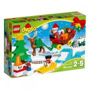 Пластмассовый конструктор LEGO DUPLO Зимние каникулы Санты